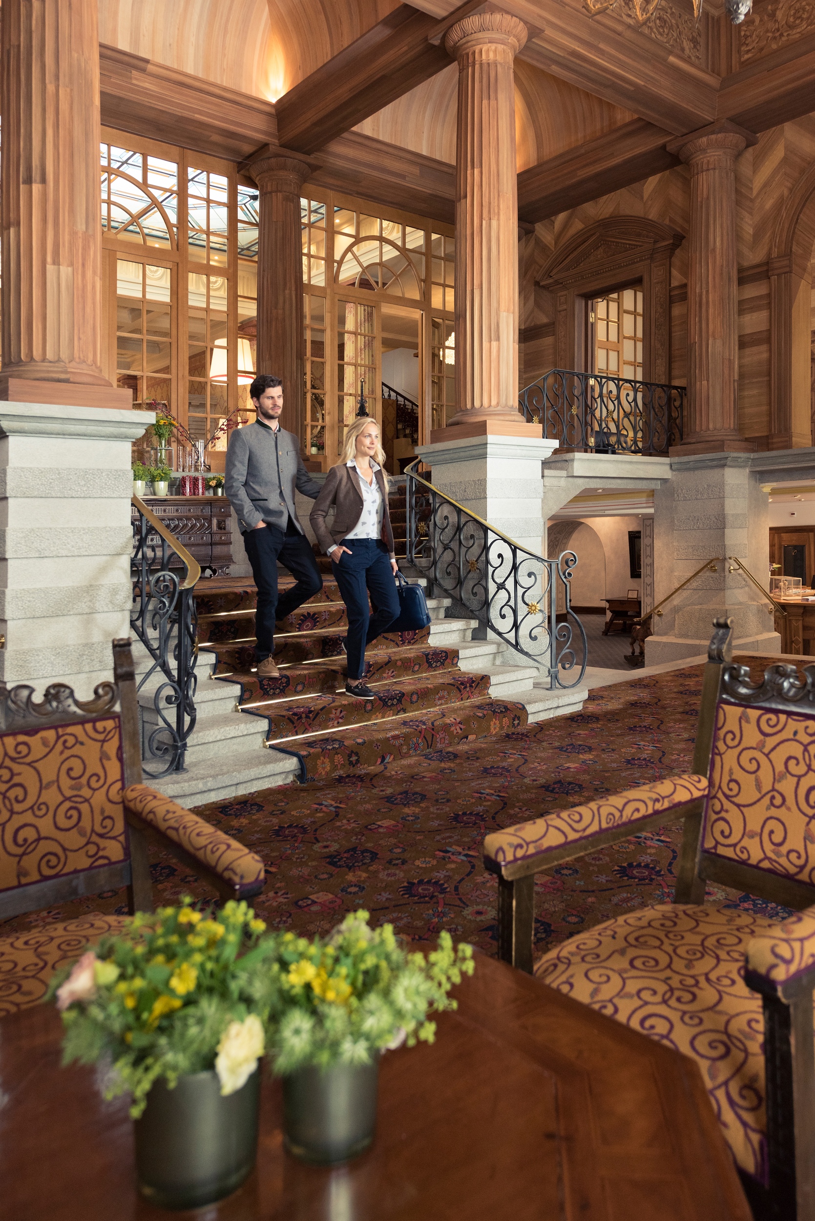 Hotel Entrance Foyer : Lobby public areas · kulm hotel st moritz